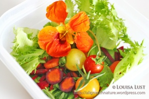 Salad with Edible Flower
